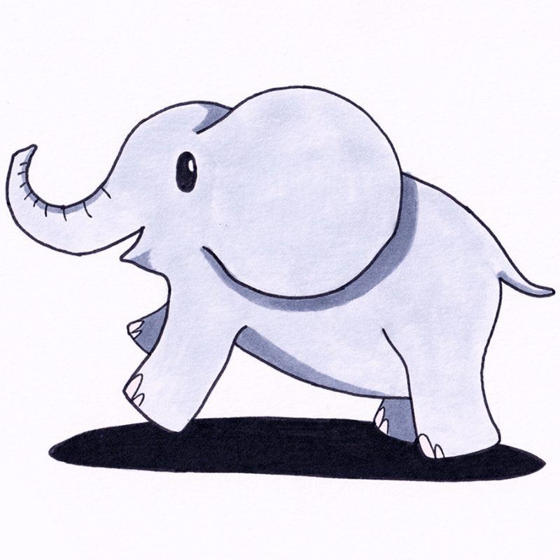 Step 10 - How To Draw An Elephant