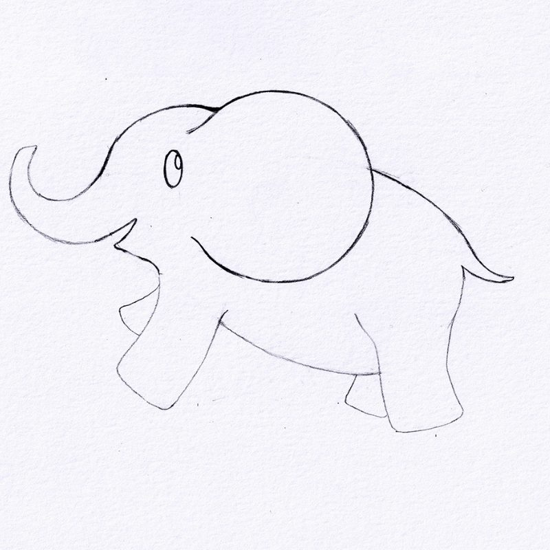 Step 6 - How To Draw An Elephant