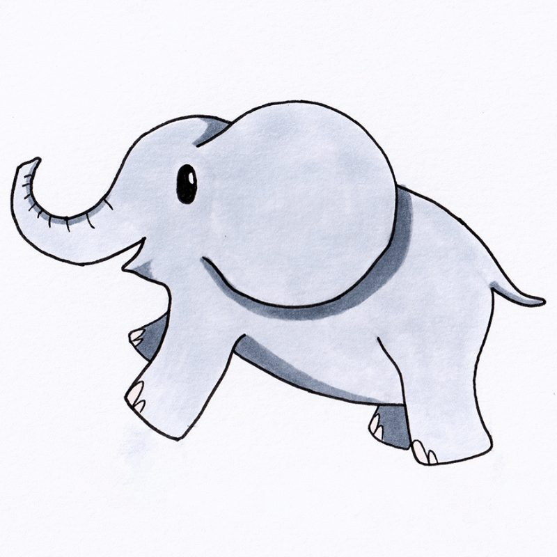 Step 9 - How To Draw An Elephant